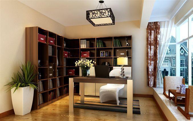 现代简约90平米三居室装修效果图 高清图片