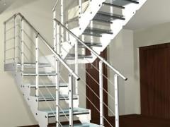 谨诺楼梯 时尚明亮 玻璃楼梯