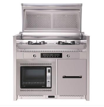 三泽 SZ-6003-2 侧吸翻盖电烤箱集成灶 优美大方折叠