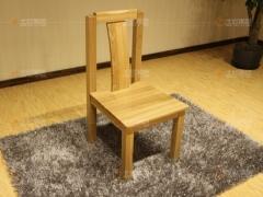 北欧篱笆 现代简约风格 实木家具 榆木餐椅 椅子 书椅