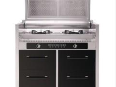 三泽正品SZ-6002-2侧吸翻盖集成灶 优美大方无烟钢琴式