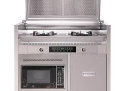 三泽 SZ-6001-1 侧吸翻盖微波炉集成灶蒸立方钢琴式集