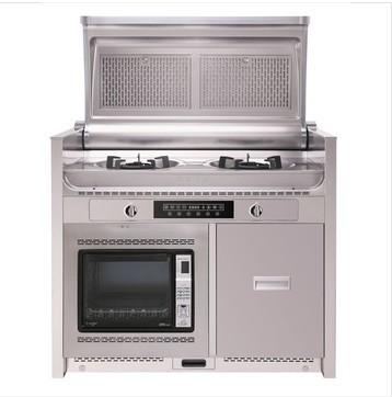 三泽 SZ-6003-1 侧吸翻盖电烤箱集成灶优美大方旋转钢