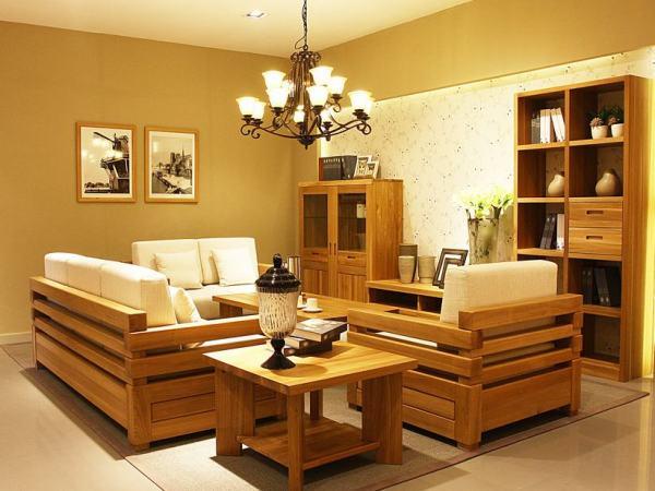 北欧篱笆纯榆木实木沙发北欧篱笆家具BO-Y-W08