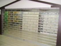 天津水晶门-水晶电动卷帘门-侧向水晶门-商场水晶卷帘门图片