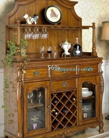 美式实木餐边柜|玻璃酒柜|展示柜#2H 特价 别墅家具