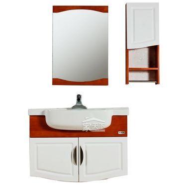 惠达卫浴HDFL185-03浴室柜(楸木实木浴室柜)部分地区