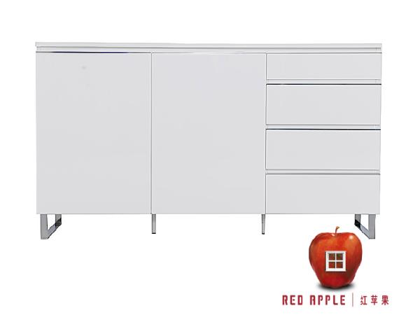 红苹果D系列白亮光餐柜