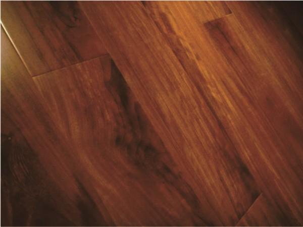 生活家马来鸡翅木实木多层地板