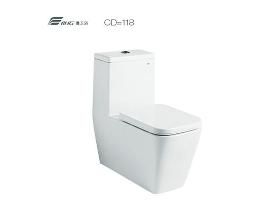 鹰卫浴坐便器马桶118系列连体坐便器CB/CD=118