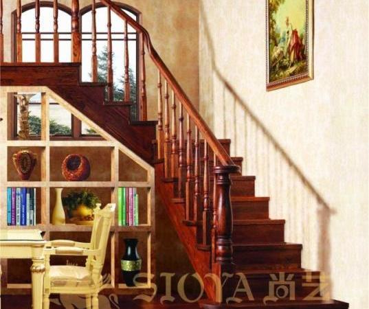实木楼梯 木质楼梯 楼梯配件 尚艺楼梯 楼梯品牌