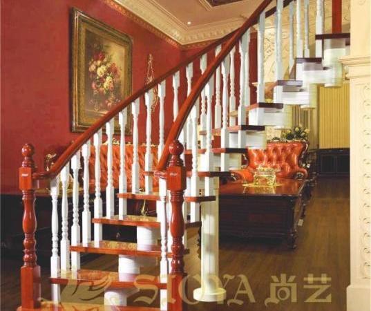全实木楼梯 伊沙贝拉整梯系列 天然材料 古典风格 优质楼梯