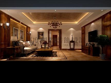 欧式新古典主义别墅客厅装修效果图欣赏图片