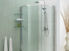 鹰卫浴淋浴房 钢化玻璃 弧扇形 带置物架ES-2134AX