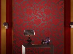 欧雅壁纸奥尔德尼高档典雅无纺绒面卧室客厅壁纸