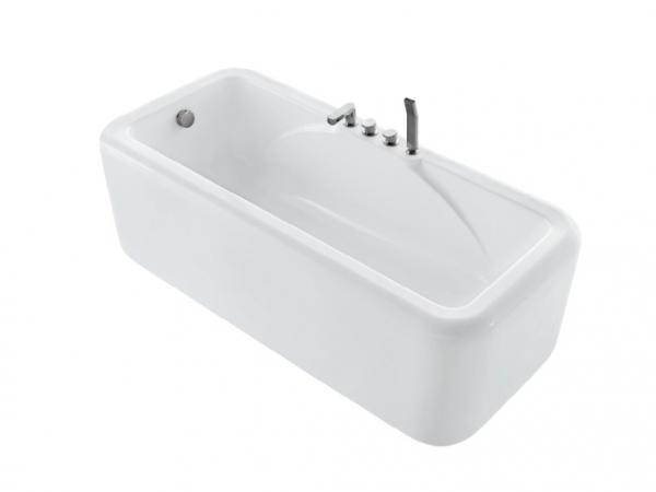独立式亚克力带龙头浴缸