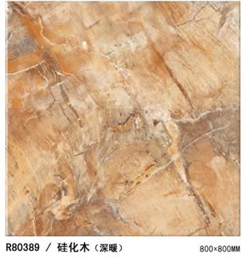 诺贝尔琥珀硅化木(深暖)微晶砖R80389