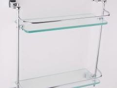 鹰卫浴双层玻璃置物架