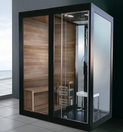 蒙娜丽莎卫浴1.8米干湿蒸香柏木铝合金豪华蒸汽桑拿房恒温龙头