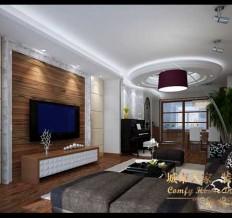 黄海明珠山庄-混合型风格-三居室