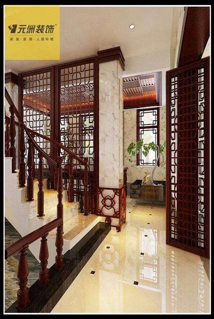 太矿享堂小区-简中式风格-别墅 客厅:整体造型选用了石材,红木色,壁纸图片