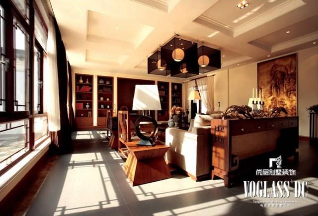中式古典客厅装修图片欣赏-室内设计师范宁设计作品
