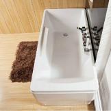惠达卫浴 HD106 1.5米亚克力双裙边龙头浴缸 特价款