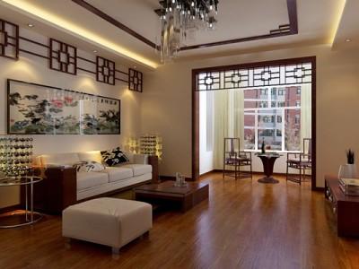 中式古典-117平米二居室装修样板间
