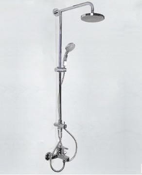 科勒花洒齐悦全铜淋浴柱升降双花洒 K-5428T-4-CP