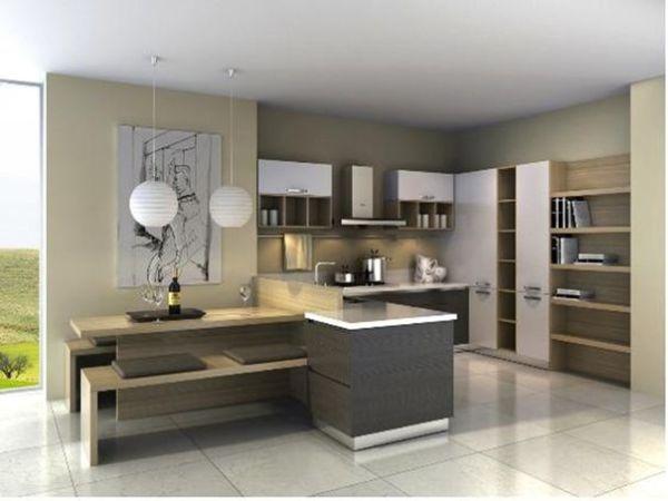 志邦厨柜 整体厨房定制 双饰面板材