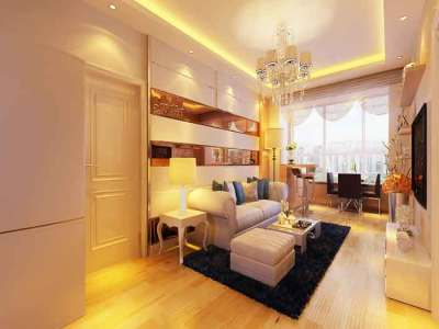 现代简约-55平米二居室装修样板间