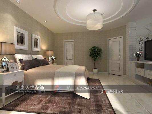 现代简约-120平米二居室-装修样板间