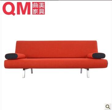 曲美家具FB-2012WS-S2-3 折叠布艺沙发床