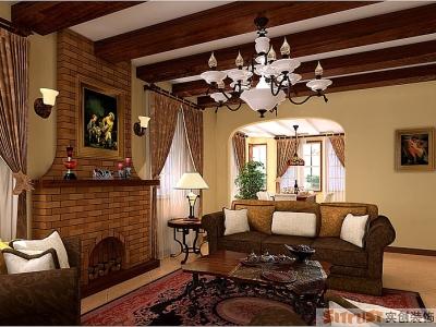 西式古典-220平米别墅装修样板间