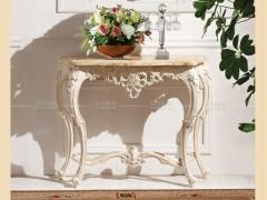 爱尚妮私 欧式大理石玄关台 镜子 田园 白色实木玄关桌