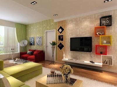 中式古典-105平米二居室装修样板间