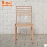 皇朝家私QK01R001 白色现代简约实木餐桌靠背椅