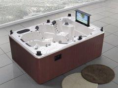 蒙娜丽莎浴缸十大品牌,亚克力浴缸户外别墅专用SPA