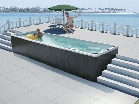 蒙娜丽莎户外泳池浴缸,独立地面式泳池