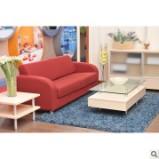 红苹果现代简约风 布艺沙发茶几2件套装图片