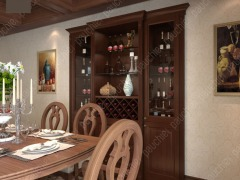 班尔奇雷丁定制酒柜 定制美式风格酒柜 玻璃酒柜 现代酒柜