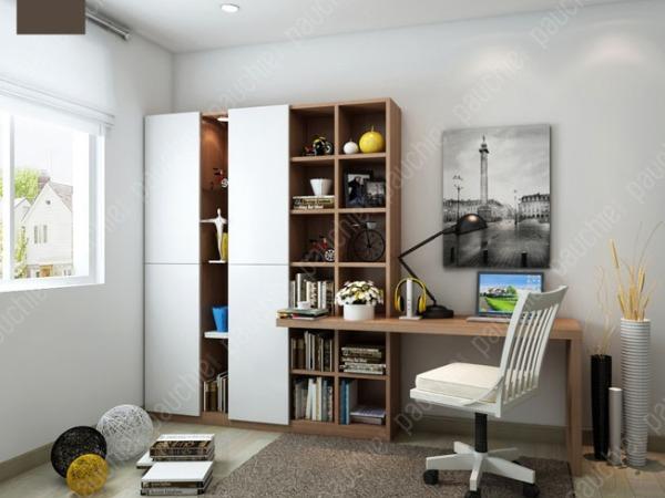 班尔奇夏菱带门书柜 定制书桌 现代简约书柜 书架 电脑桌