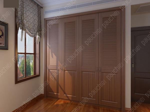 班尔奇菲恩平开门衣柜四门衣柜可定制简欧风格百叶门