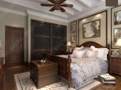 班尔奇玛西美式乡村移门衣柜步入式定制衣柜仿皮两门卧室家具