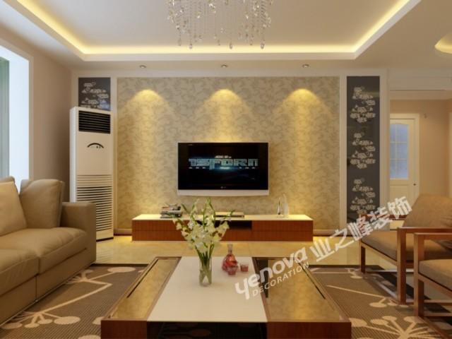 现代简约客厅影视墙装修图片欣赏