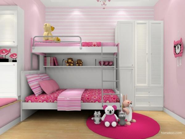 尚品宅配 定制儿童公主房B17611 定制高低床儿童房