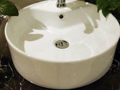 劳达斯卫浴陶瓷圆形台上盆 特价抢购