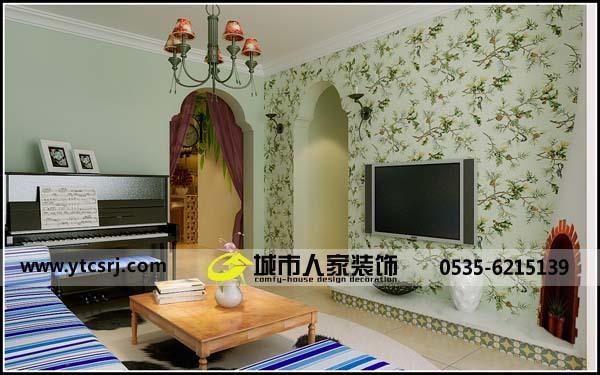 田园风格-90平米二居室-装修样板间