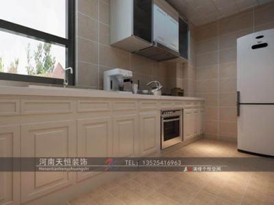 欧美风情-80平米二居室装修样板间