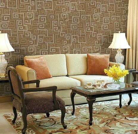 墙纸 客厅卧室走道书房 现代中式风格 几何图形 壁纸
